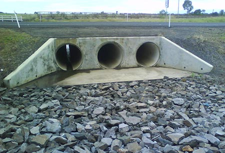 Bruce Highway (Maryborough – Gin Gin), Reinforced Concrete Ends to Jacked Culverts, Approximate Chainage 71.7km