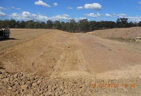 Bulk earthworks for poultry rearing sheds